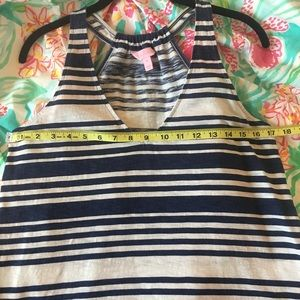 Lilly Pulitzer Tops - 🇺🇸 Lilly Pulitzer Blue & White Tank - M 🇺🇸